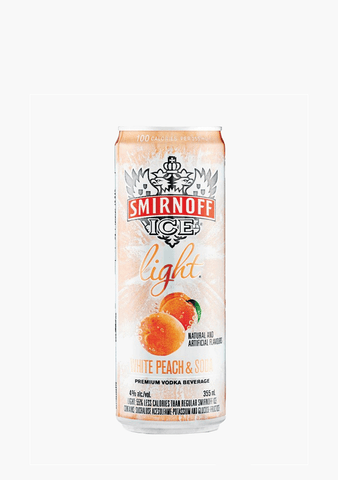 Smirnoff Ice Light White Peach - 4 x 355ml-Coolers