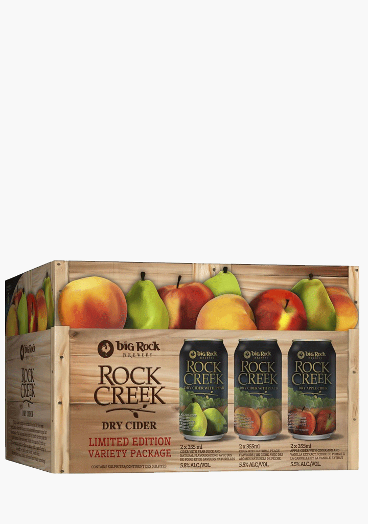 Big Rock Rock Creek Variety Pack - 6 x 355 ml-Cider