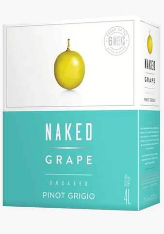 Naked Grape Pinot Grigio 4L Box-Wine