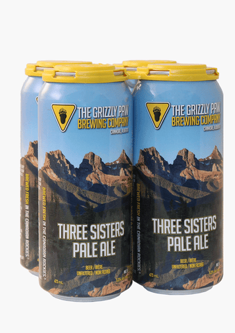 Grizzly Paw Three Sisters Pale Ale - 4 x 473ML-Beer