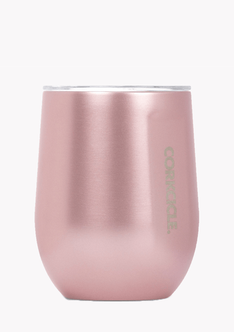 Corkcicle Stemless Rose Metallic 12oz-Giftware