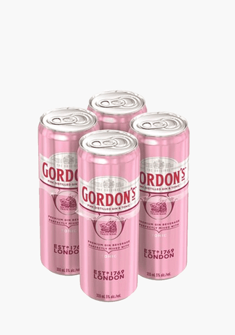 Gordon's Pink Gin & Tonic - 4 x 355 ml-Coolers