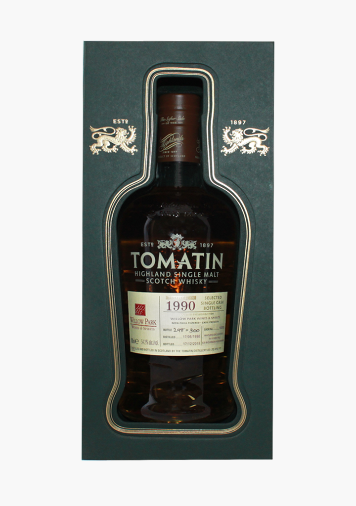 Tomatin Willow Park Cask 1990-Spirits
