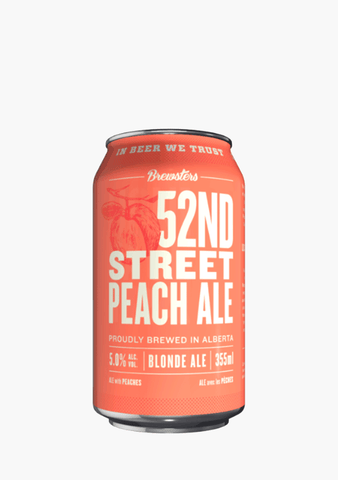 Brewsters 52nd Street Peach Cans - 6x355ML-Beer