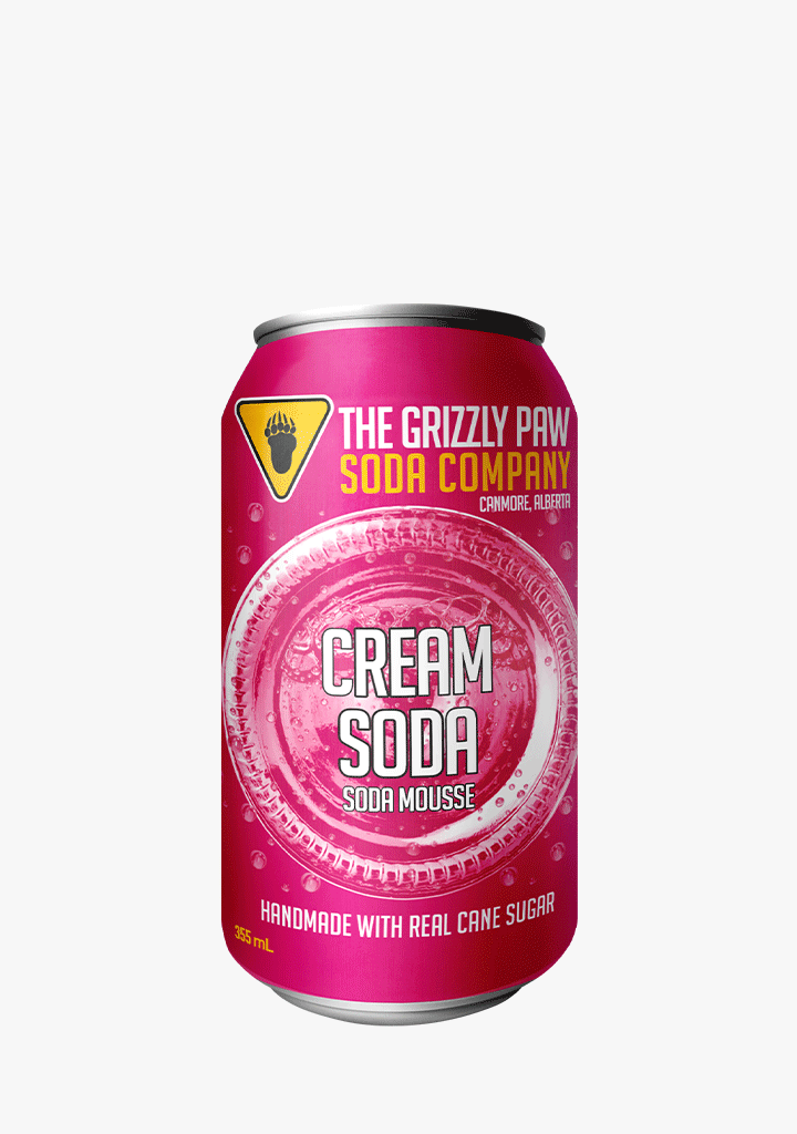 Grizzly Paw Cream Soda - 4 x 355ML-Non-Alcoholic
