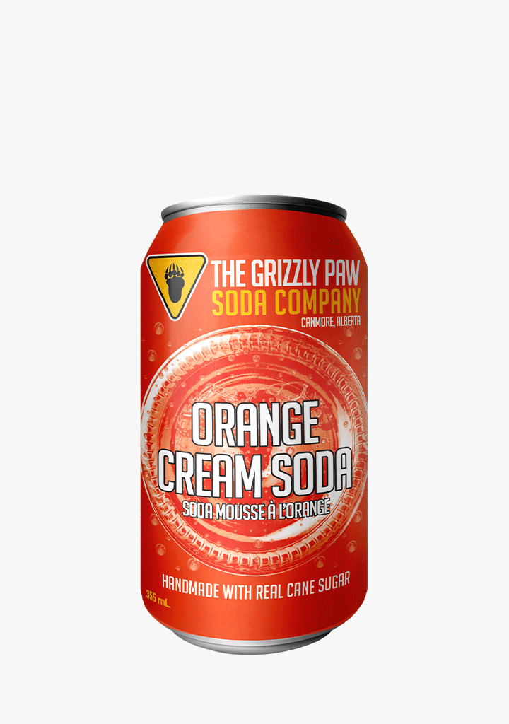 Grizzly Paw Orange Cream Soda - 4 x 355ML-Non-Alcoholic