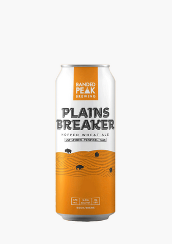 Banded Peak 'Plainsbreaker' Hopped Wheat Ale - 4 X 473ML