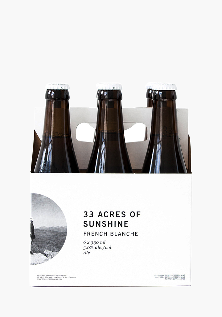 33 Acres 'Sunshine' French Blanche - 6 X 330ML