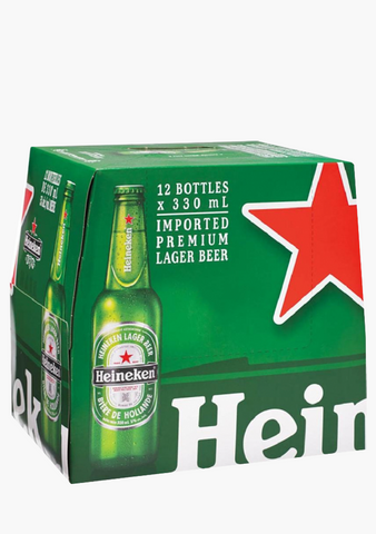 Heineken Bottles - 12 x 330 ml