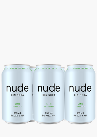 Nude Gin Soda Lime-Coolers