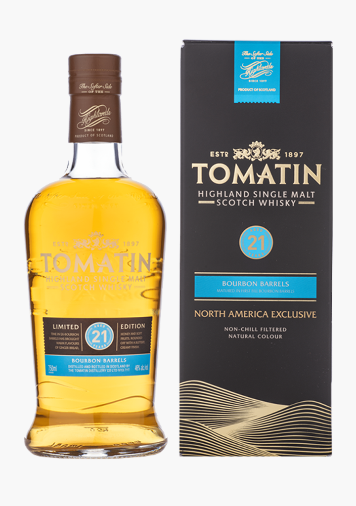 Tomatin 21 Year Old Bourbon Cask-Spirits