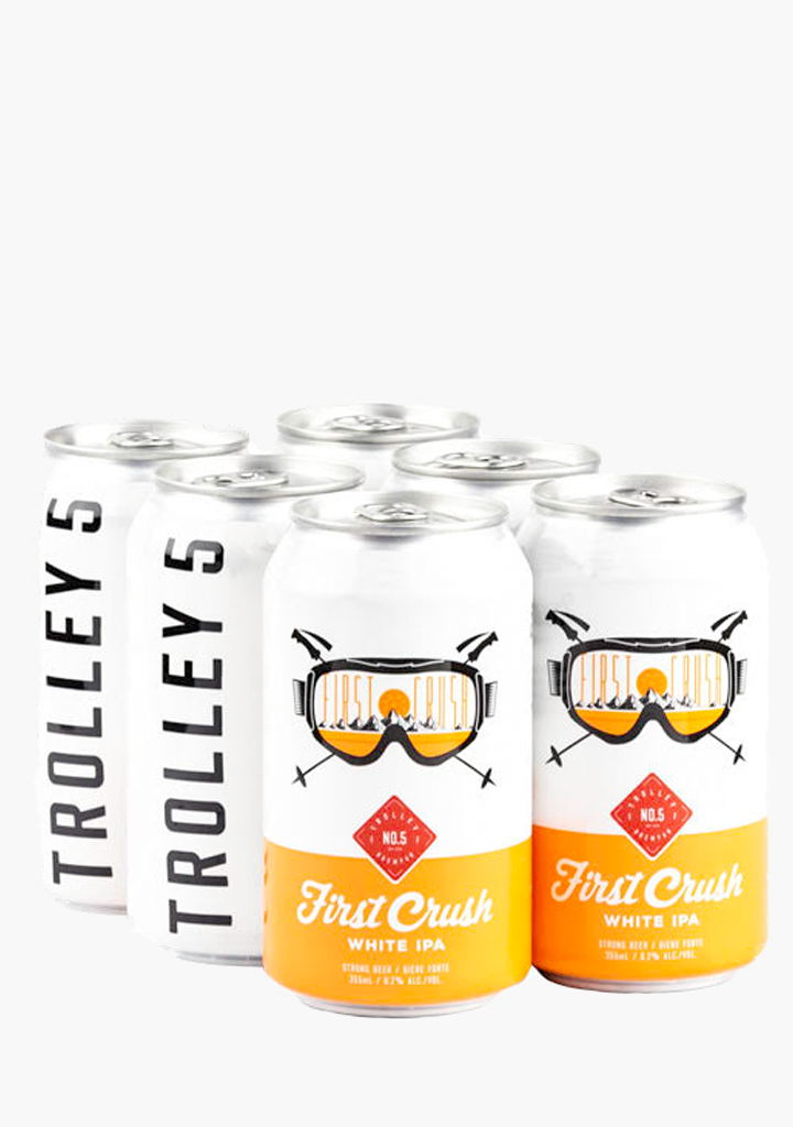 Trolley 5 First Crush White IPA - 6 x 355 ml-Beer