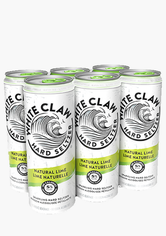 White Claw Natural Lime - 6 x 355ml-Coolers