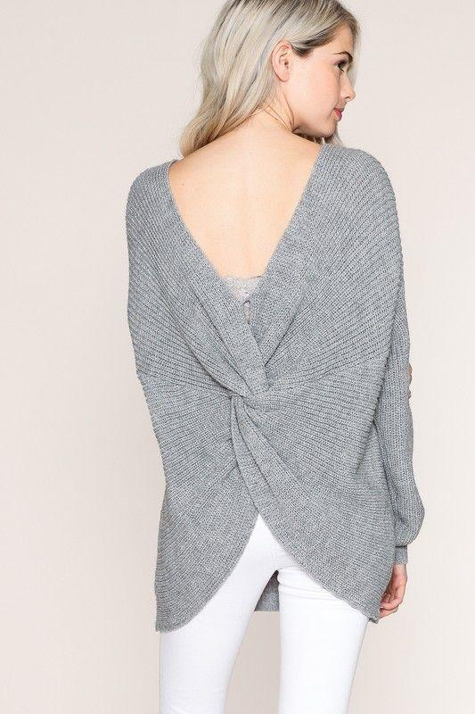 Oversized Sweater With a Sexy Back Twist