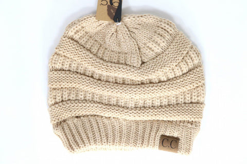 Front View Classic CC Beanies at Misty Boutique