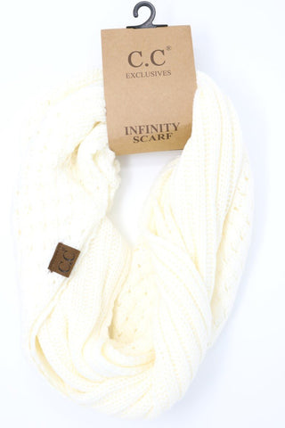 Basket CC Infinity Scarf at Misty Boutique