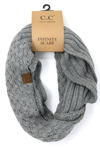 Basket Weaved CC Infinity Scarf