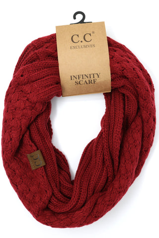 Basket Weaved C.C Infinity Scarf