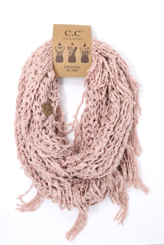 Chenille CC Infinity Scarf - Indie Pink
