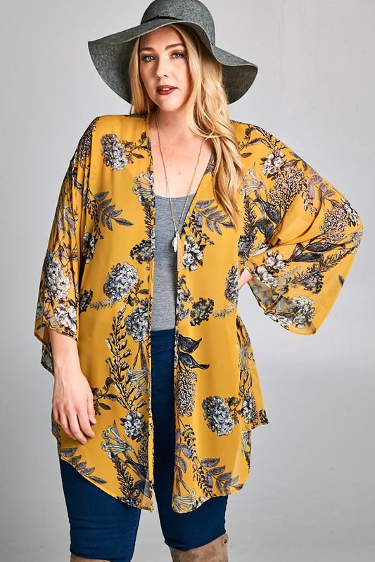 Chiffon Cardigan - Yellow