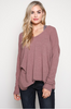 Front View Open Back Sweater - Mauve at Misty Boutique