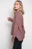 Side View Open Back Sweater - Mauve at Misty Boutique