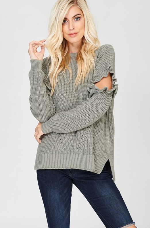 Just Relax Olive Green Sweater