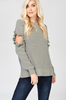Front View Just Relax Olive Green Sweater at Misty Boutique