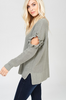Side View Just Relax Olive Green Sweater at Misty Boutique