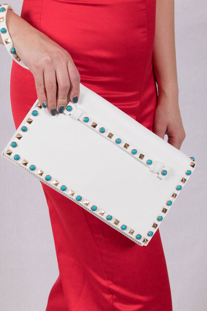 True To Yourself White Clutch