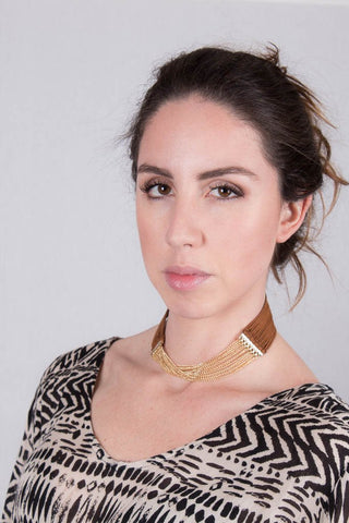 Gold Choker Necklace at Misty Boutique