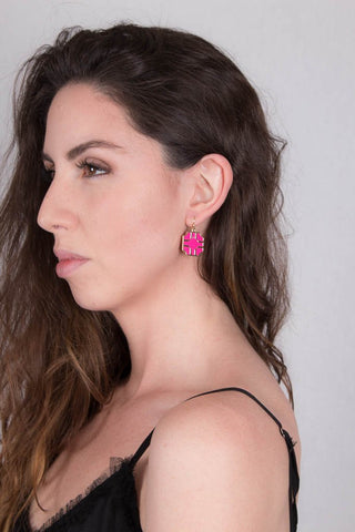 Pink Earrings at Misty Boutique