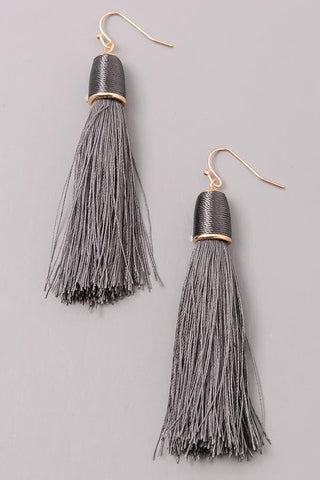 Simple Cord Tassel Earrings at Misty Boutique