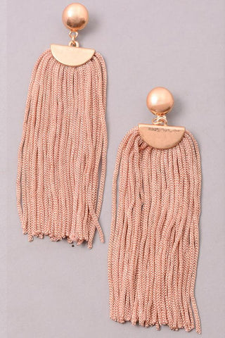 Cord Fringe Dangle Earrings at Misty Boutique