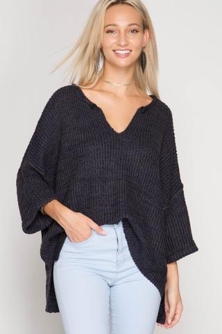 Front View Trendy Oversized sweater at Misty Boutique