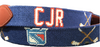 CJR Blue Needlepoint Belt
