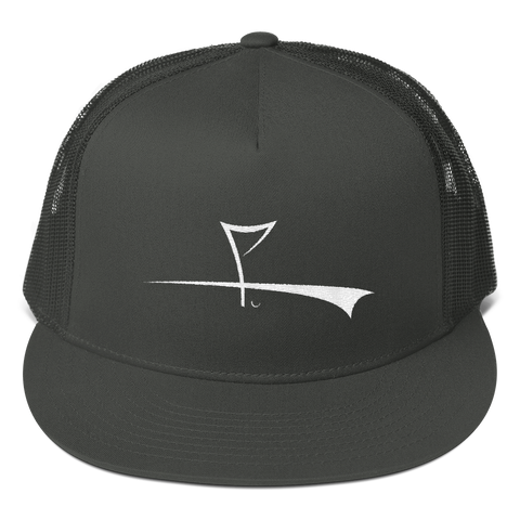 THE LOGO Flat Brim Trucker