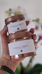 AROMATHERAPY Lemon + Neroli Natural Soy Candle (Mood- boosting & Uplighting)