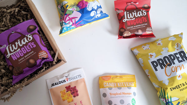 MOVIE NIGHT-IN Vegan & Gluten-Free Snack Treat Box | Popcorn, Sweets, Chocolate I Hamper