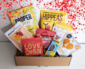 HUG IN A BOX Vegan & Gluten- free I Healthy Snack Treat Box | Hamper I Valentines I Loved one