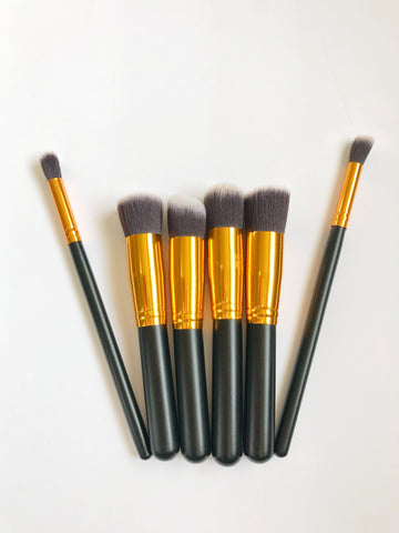 Black and Gold Kabuki Brushes