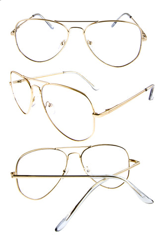 Gold Frame Clear Sunglasses - Beautiful YAS