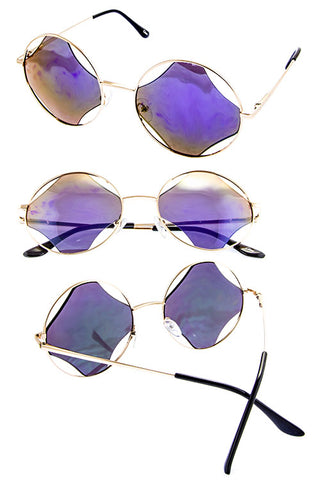 Metal Cutout Sunglasses - Beautiful YAS