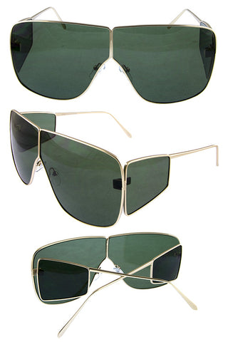 Metal Modern Square Sunglasses - Beautiful YAS