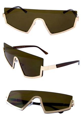 Semi Rimless Sunglasses - Beautiful YAS