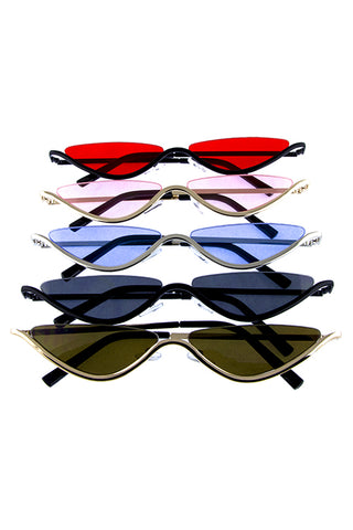Slim Bottom Rim Sunglasses - Beautiful YAS