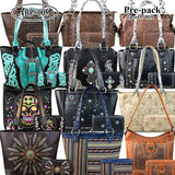 ABP-005W American Bling Pre-pack Phone Charging Handbag with Wallets (12 set Assorted Style)
