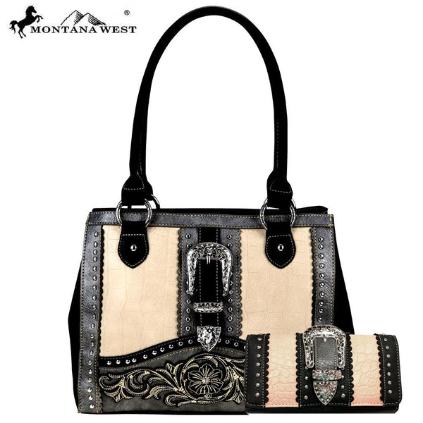 ABS-004W  American Bling  Buckle Collection Tote and Wallet Prepack (12 Set) Single Style