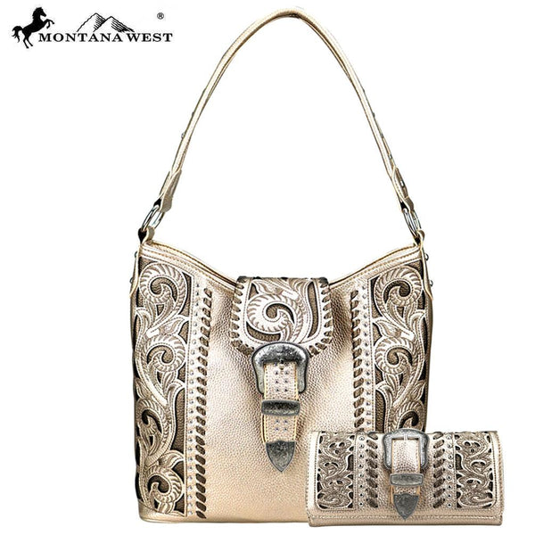 ABS-013W  American Bling  Buckle Collection Tote and Wallet Prepack (12 Set) Single Style