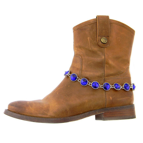 BOT150103-01RBUL  Rhinestones Linked Boot Chain